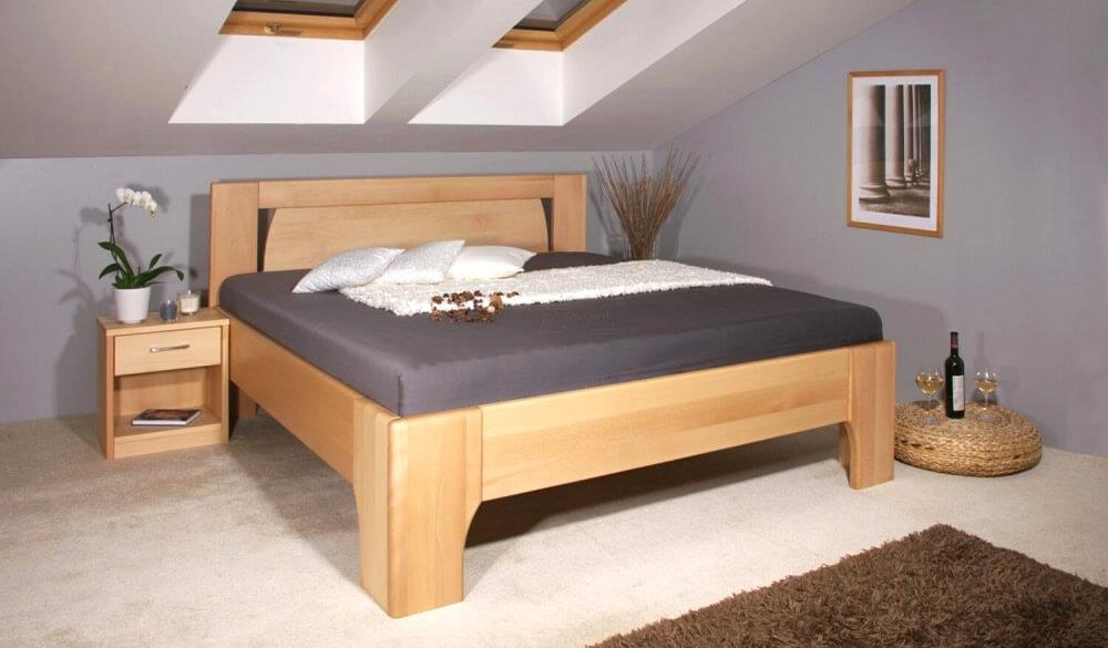 Kvalitní provedení dřevěné postele z masivu ( postel Olympia )