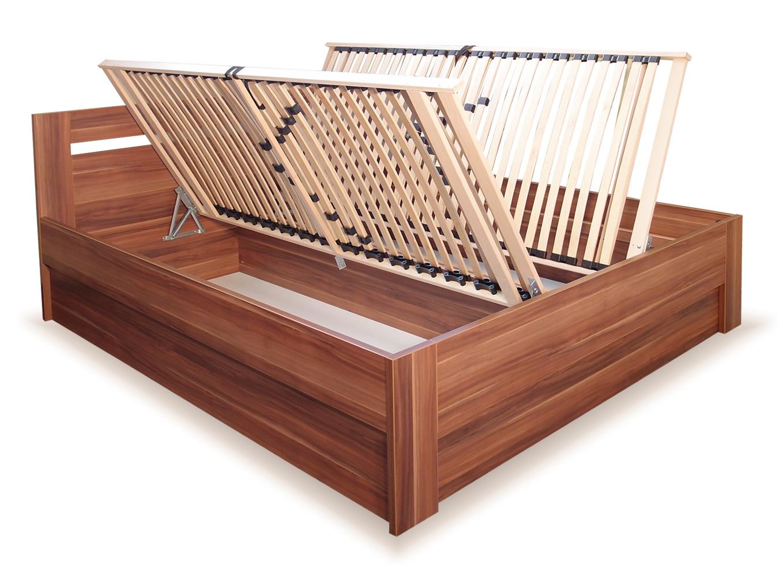 Laminovaná postel s úložným prostorem LADA